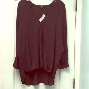 Draped Banana Republic purple blouse sz XL
